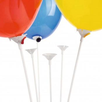 Patyczki do balonów białe