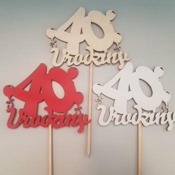 """TOPPER """"40 URODZINY"""""""