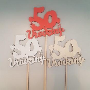 """TOPPER """"50 URODZINY"""""""