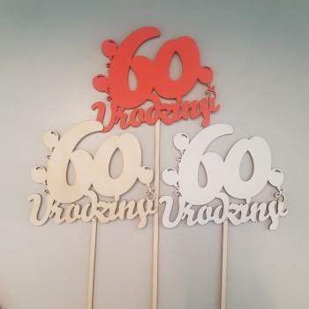 """TOPPER """"60 URODZINY"""""""
